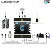 Sound Card XOX KS108 USB Recording ONLINE Smule Interface M lop8