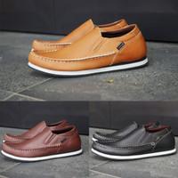 Sepatu Kulit Asli Pria Kasual Original Handmade - G11 - Hitam, 39
