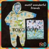 Piyama Bayi -) Baju kodok bayi velvet topi tutup kaki newborn