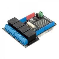 Sos Modul RobotDyn 4 Relay Shield Uno Untuk Arduino 400mA 6-12V