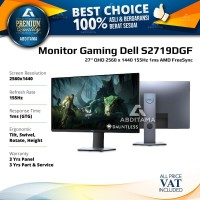 Monitor LED Gaming Dell S2719 S2719D S2719DGF 27 2560x1440 155Hz 1ms