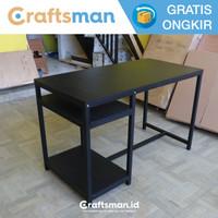 Meja PC / Kerja / Belajar Black Edition Minimalis | MK12 - 100x60