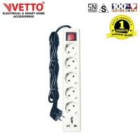 Stop kontak Vetto 6 Lubang 3 Meter Full Universal SNI - V8206/3M+TB