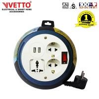 VETTO Box Kabel V8685/5M Switch Universal SNI & 2x 2.1A USB 3.0