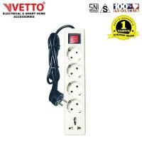VETTO Stop Kontak 5 Lubang 3 Meter Full Universal SNI - V8205/3M+TB