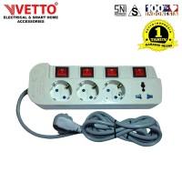 Stop kontak Vetto MS-4 - MS4/1.5M Multi Socket Outlets