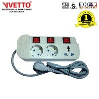 VETTO Stop Kontak MS-3 - MS3/5M Multi Socket Outlets