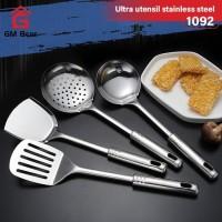 GM Bear Spatula Set isi 4pcs 1092 - Spatula Sutil Stainless Steel