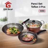 GM Bear Wajan Set Panci Penggorengan Teflon 1 Set 3 Pcs 1090