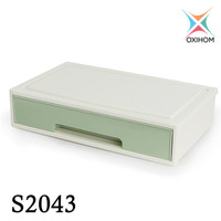 Oxihom S2043 1 Laci Plastik Susun Drawer Storage Stackable Organizer - Green