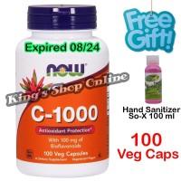 Vitamin C 1000 - 100 Veg Capsules with Bioflavonoids, Now Foods ( USA)