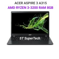 LAPTOP ACER Aspire 3 A315 RYZEN 3-3200|RAM 8GB|HDD 500GB|15.6HD/VEGA3