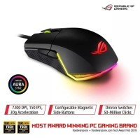 ASUS ROG Pugio Optical Wired Gaming Mouse with Aura RGB Lighting