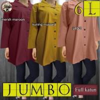 Baju Atasan Wanita / Blus Wanita / Tunik Kemeja 5L Jumbo
