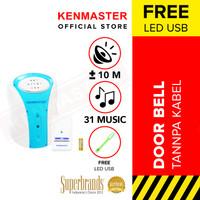 Kenmaster Door Bell Detail Kanan KM-008 - Bel Pintu Rumah / Wireless