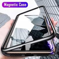Realme c17 Magnetic Glass Premium Case 2in1 KACA DEPAN BELAKANG