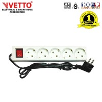 VETTO Stop kontak 5 Lubang 1.5 meter Full SNI - V8205/1.5M