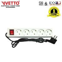 VETTO Stop kontak 5 Lubang 5 meter Full SNI - V8205/5M