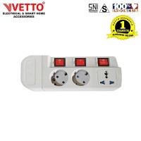 VETTO Stop Kontak MS-3 (3L) - MS-3/TK Multi Socket Outlets