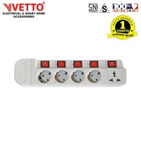 VETTO Stop Kontak MS-3 (5L) - MS-3/TK Multi Socket Outlets