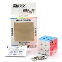 Rubik Moyu Mini 3x3 Stickerless 3x3x3 Keychain Gantungan Kunci 35 mm