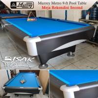 Murrey Metro 9-ft Second - Meja Bekas 9 feet Billiard Pool Table Asli