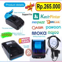 Mini Thermal Printer Bluetooth EPPOS EP-RPP02 58mm Support Mokapos