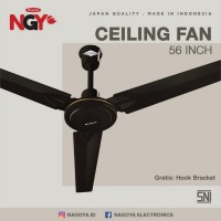 "Kipas Angin Plafon NAGOYA (Ceiling Fan) 56"" - Baling Besi - NG56CF - Putih"