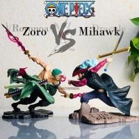 Action figure One Piece dracule mihawk POP MAX battle VS Zoro edition