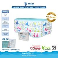 Doctor Dolphin Square Inflatable Baby Pool / Kolam Renang Anak Karet