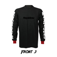 Hayaidesu Black Logo T Shirt Long Sleeve