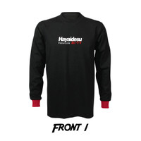 Hayaidesu Motorcycle Back Print T Shirt Long Sleeve