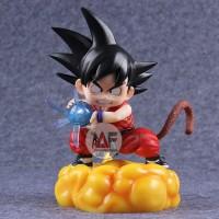 Action figure Dragon Ball little Goku on golden nimbus LED high qualit
