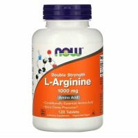 Now Foods L Arginine Double Strength 1000 mg 120 Tablets Amino Acid