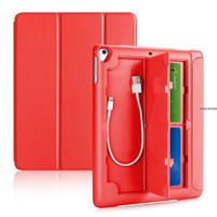 iPad Air 1 3Fold Smart Case/Cover w.(Pencil,USB & Card) Holder