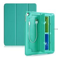 "New iPad 2017 9.7"" 3Fold Smart Case/Cover w.(Pencil,USB & Card) Holder"