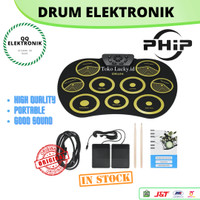 DRUM ELEKTRONIK Portable Set Roll Up Drum Kit 9 Silicone Pads USB