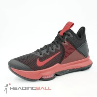 Sepatu Basket Nike Original Lebron Witness IV Black Gym Red BV7427-006