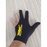 Sarung Tangan Biliar High Quality / 3 Finger Billiard Gloves PREDATOR