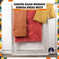 Grosir / Random Sarung Gajah Manggis Dewasa 6000 Benang - Motif Polos, RANDOM
