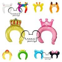 Balon Bando / Animal Headband / Balon Foil Bando Anak Karakter Hewan