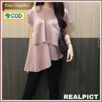 (M837) Baju Atasan Layer Wanita Import