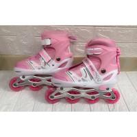 SEPATU RODA INLINE SKATE POWER LINE POWER SUPERB+Roda BAJAJ - Merah Muda