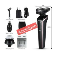 Kemei KM-566 4 In 1 Washable Rechargeable Electric Shaver For Men