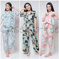 CELANA PANJANG piyama tie dye kulot baju tidur wanita dewasa motif