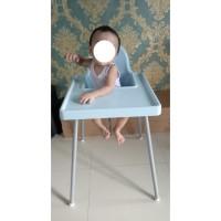 IKEA ANTILOP Kursi Makan Bayi - Biru Muda