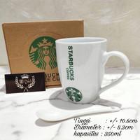 Cangkir Keramik Starbucks Gift Set Ceramic Mug Starbucks dengan sendok
