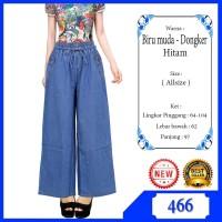 Celana Remaja Kulot Jeans List Motif Bahan Jeans Lembut & Tidak Berat