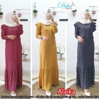 Alaika maxi dress bahan kaos