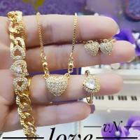 Xuping Set Perhiasan Lapis Emas 24k F1013